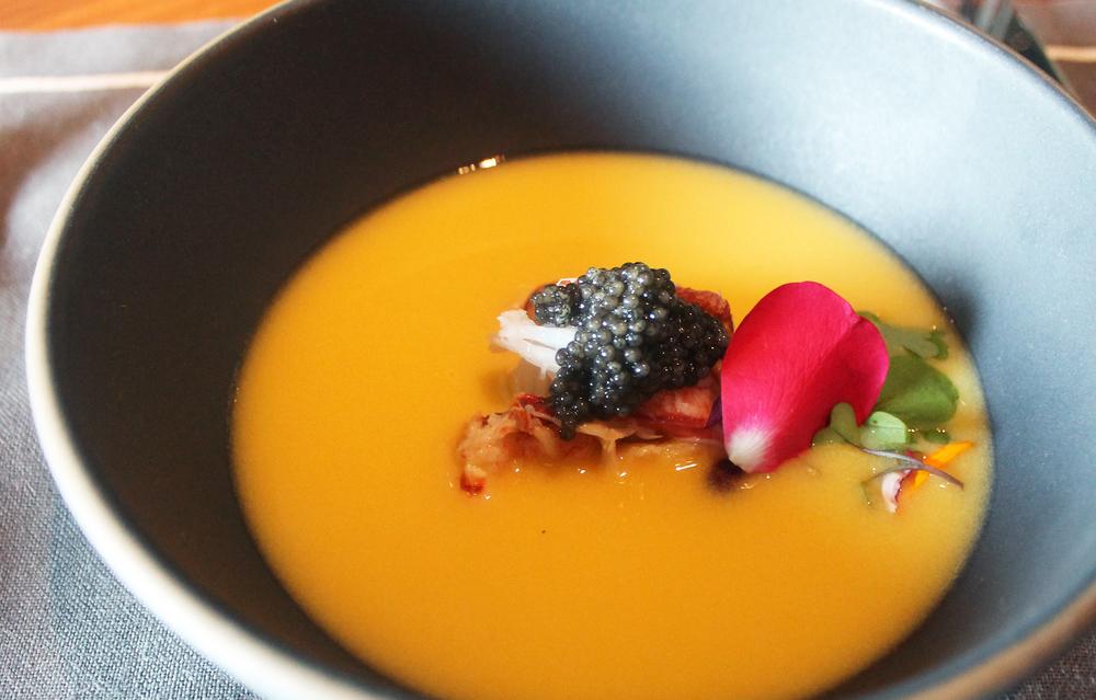Corn Soup: Lobster, Caviar