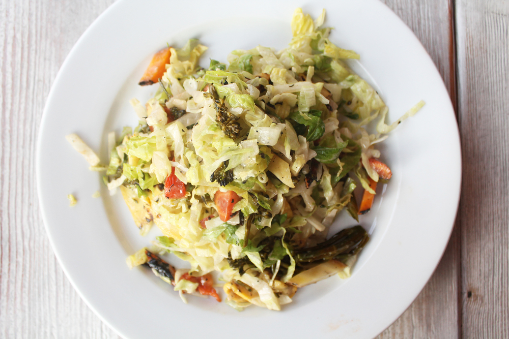 Chopped Grilled Veggie Salad