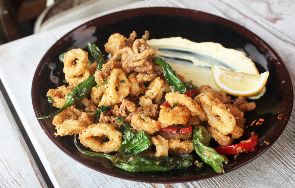 Crispy Calamari with Shishito Peppers