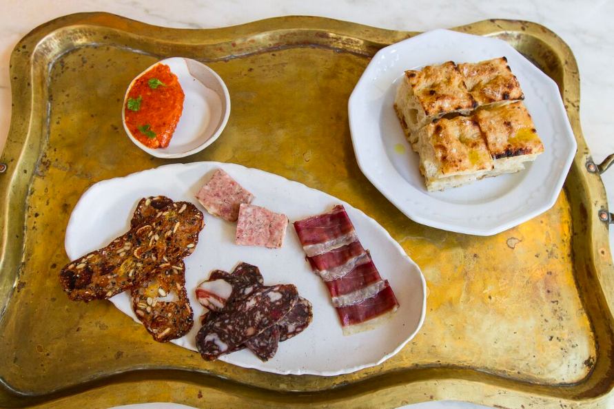 Charcuterie: Salami, Smoked Duck Breast, Pork Rilettes