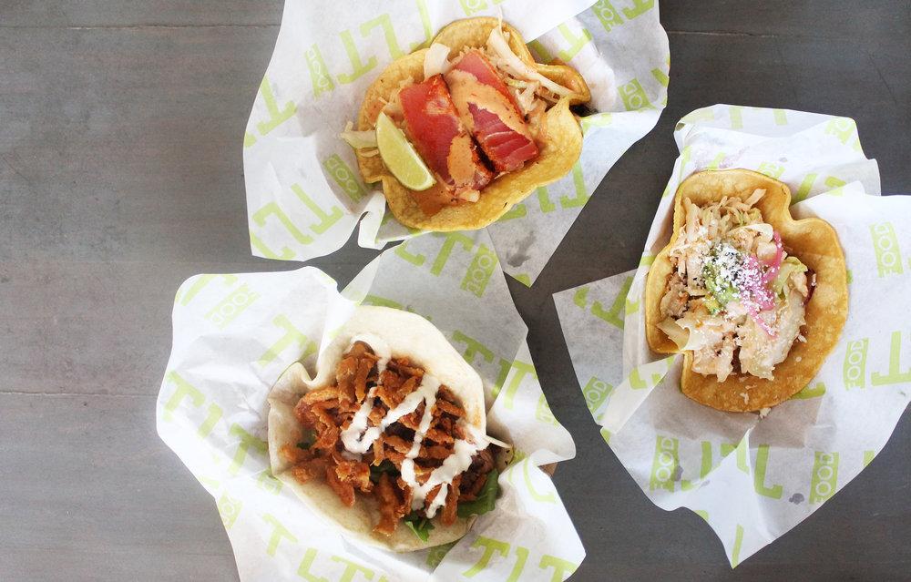 Ultimate Taco,Seared Ahi Tuna Taco, Short Rib Taco