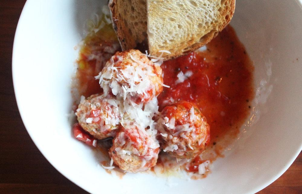 Polpette: Meatballs, Tomato Sauce, Grilled Bread