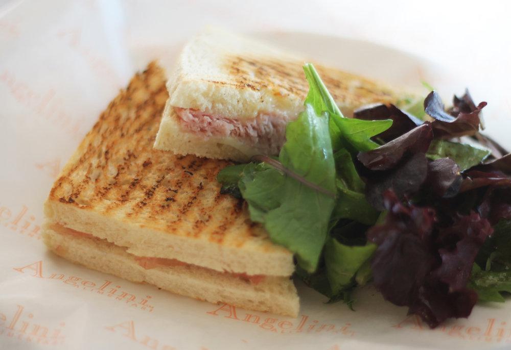 """""""IL BAMBINO"""": melted ham & cheese, prosciutto cotto, provolone, white toast"""