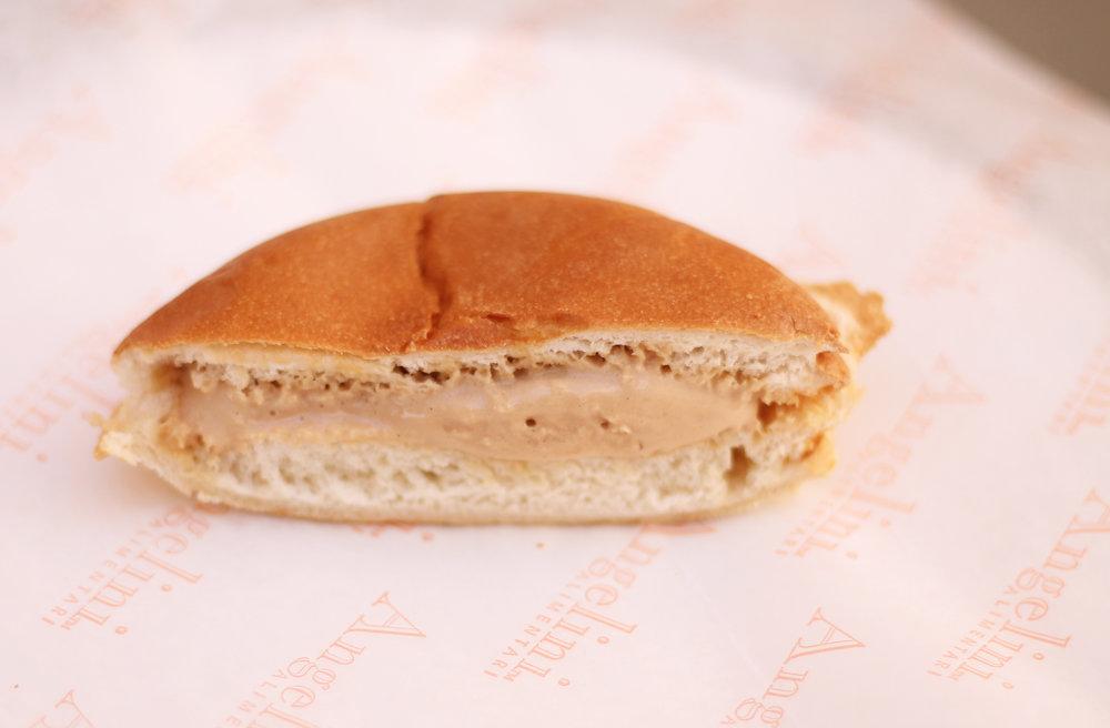Warm Brioche Gelato Sandwich with Salted Caramel Gelato