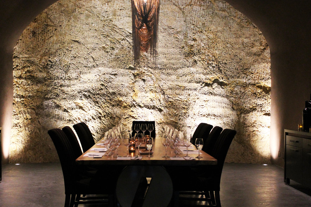 A Tasting Room In the Italics Wine Cave