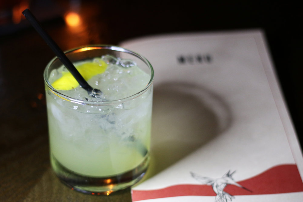 London Fog: Plymouth Gin, Yellow Chartreuse, Lemon Juice, Soda