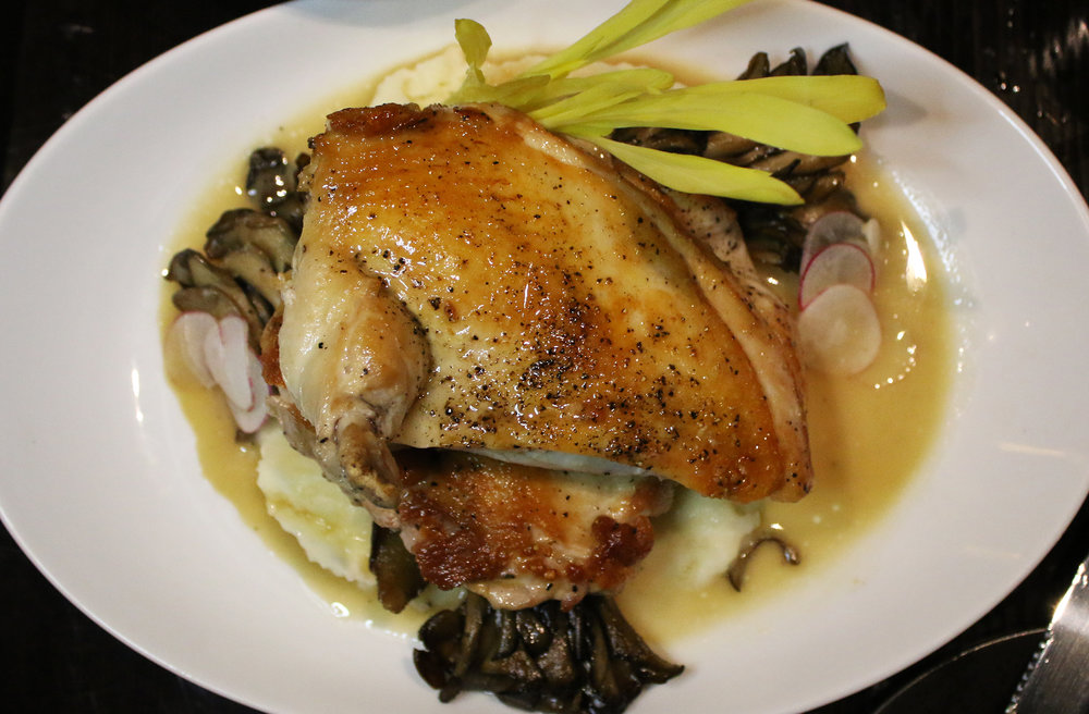 Rocky's Half Chicken: Maitake, Potato Puree
