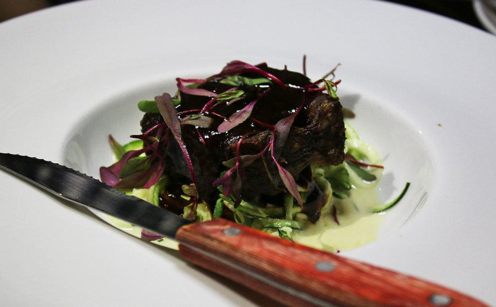 Short Rib: Zucchini Slaw, Tarragon Aioli, Beef Jus