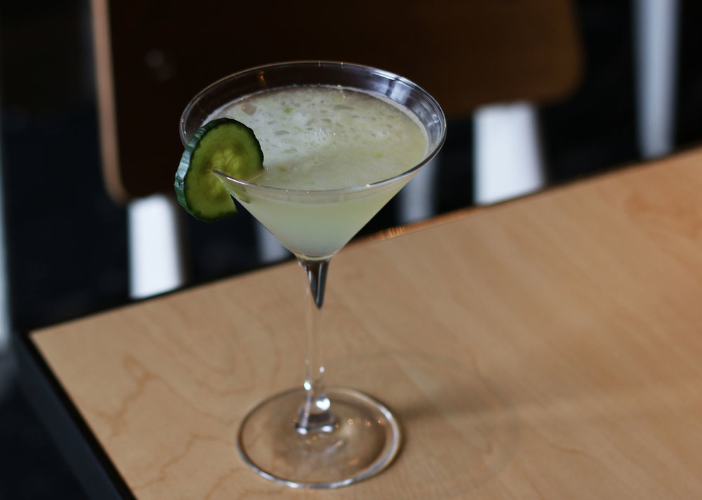 KATSUYA FRESH:  Effen Vodka, Rock Sake, hand-crushed English cucumbers and freshly squeezed lime juice.