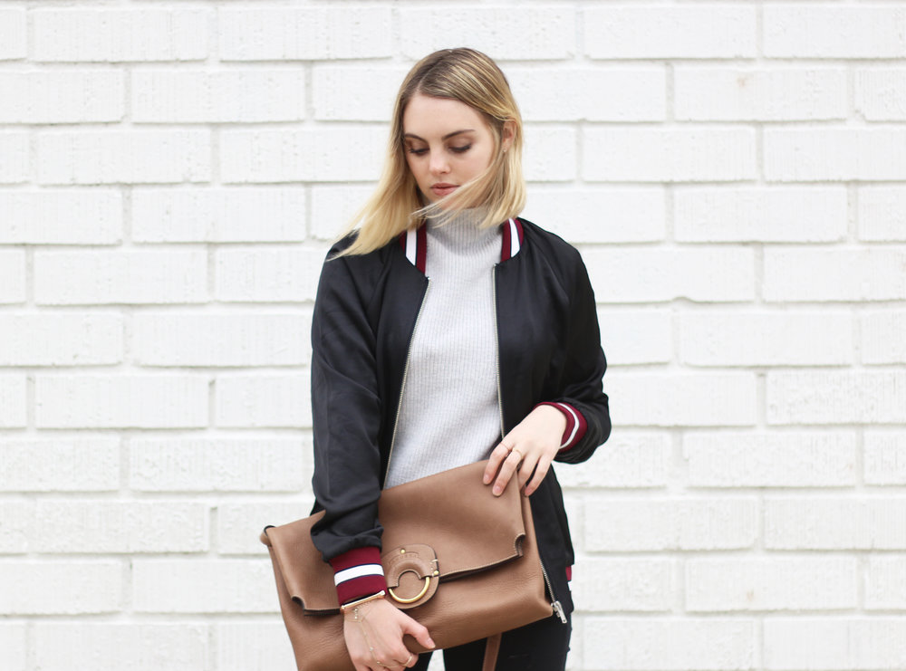 Aritzia Bomber Jacket: Similar  here