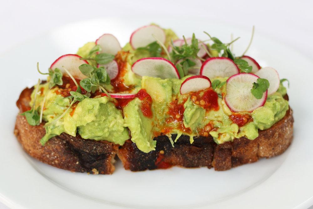 Avocado Toast: Salsa Calabrese, Radish