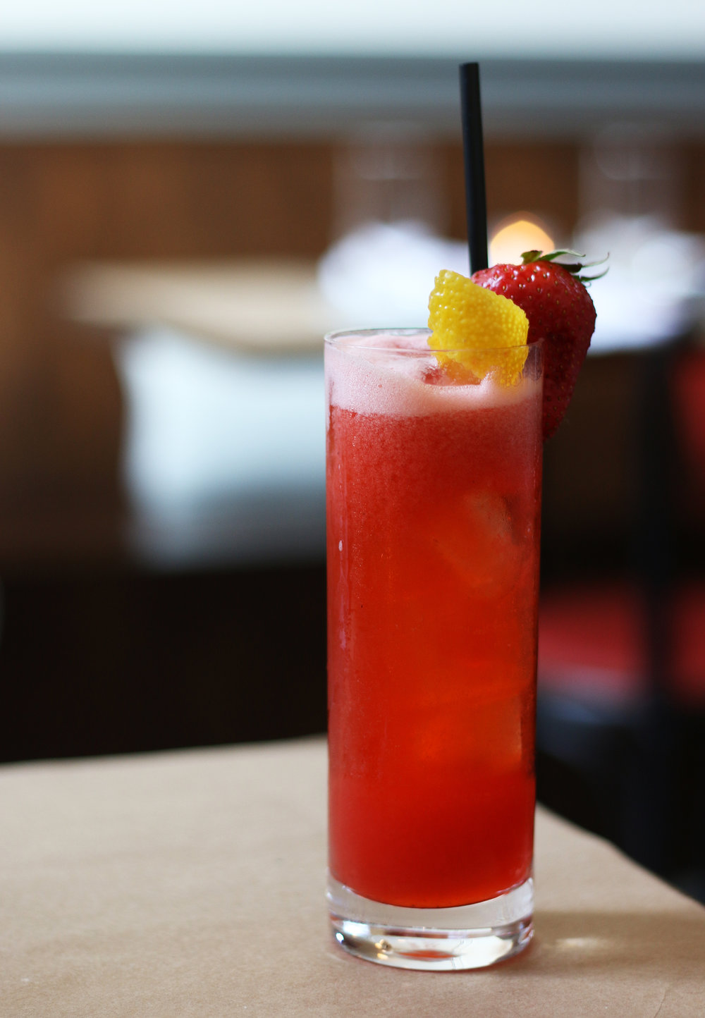 Bella Rosa :  Sparkling Rose, Aperol, Strawberries & Lemon