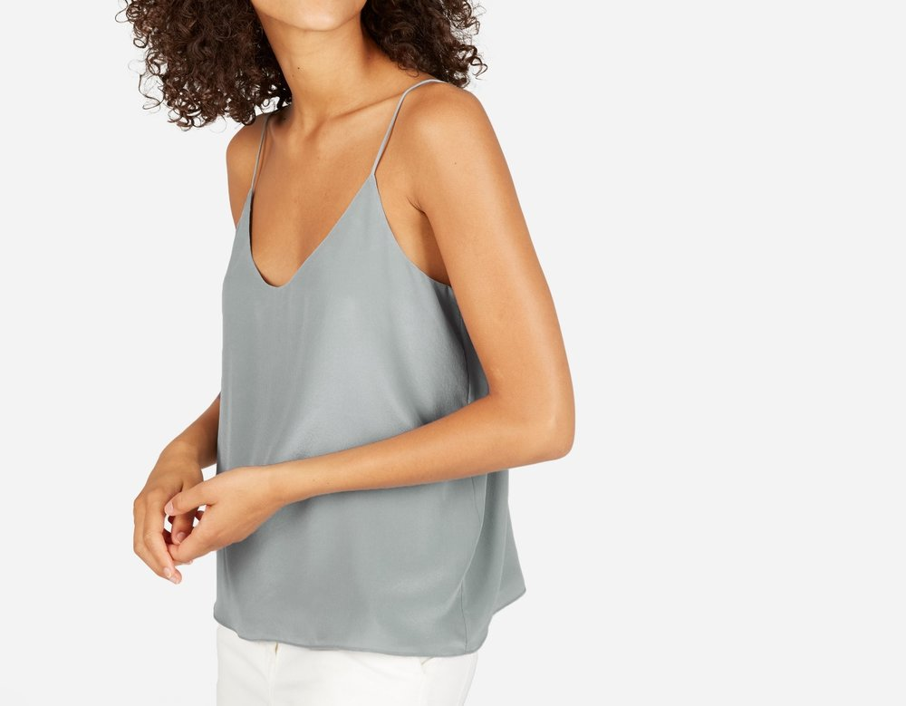 The Double-Lined Silk V-Neck Cami, $65