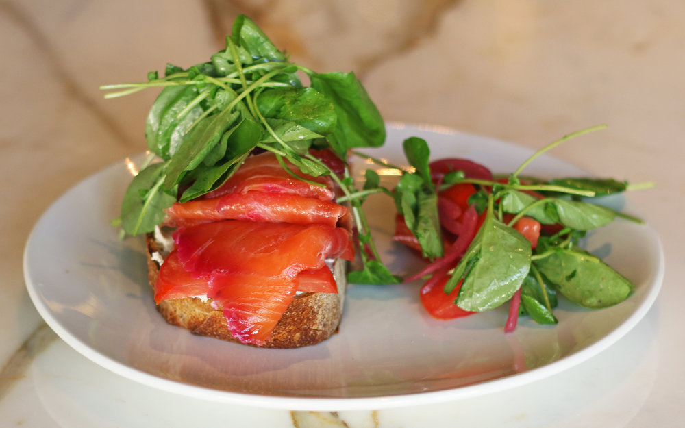 Lox on Toast