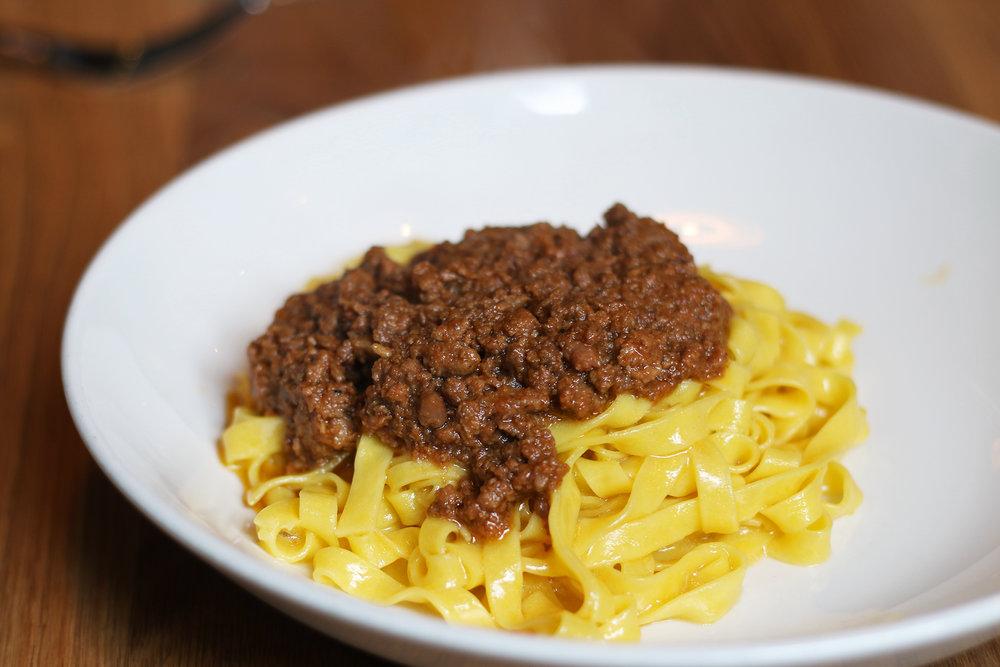 """Tagliatelle al Ragú: Original """"Bolognese"""" recipe, made without cheese, milk or cream"""