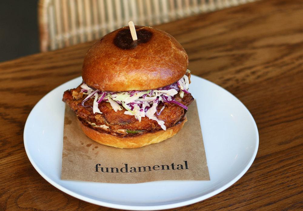 Free-Range Fried Chicken Sandwich