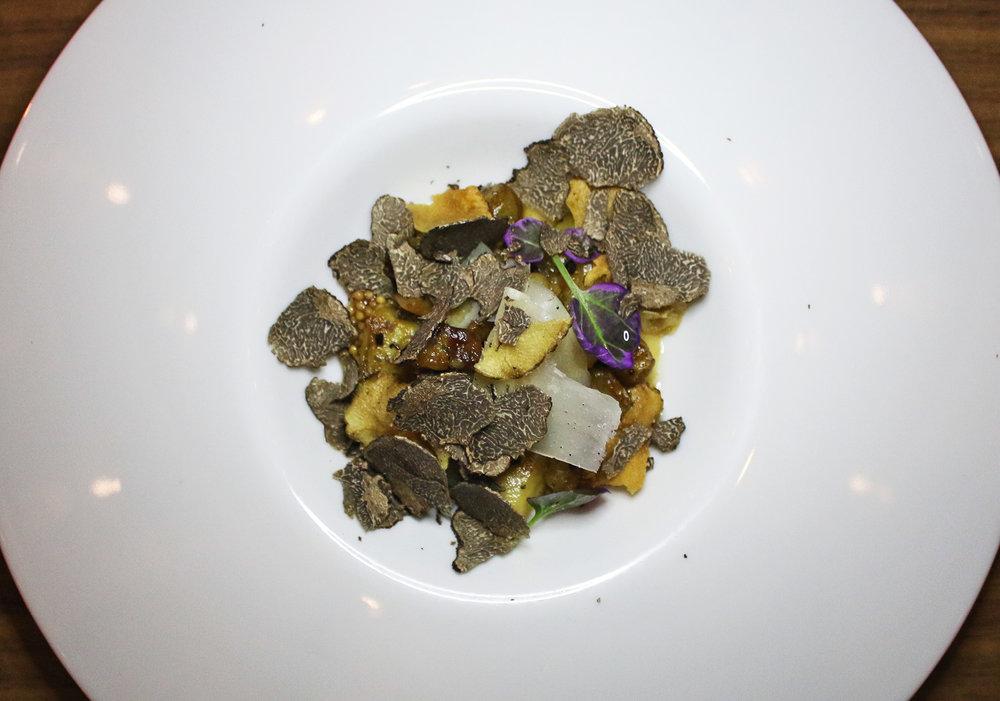 Artichoke Salad: Sunchoke, Black Truffle, Miso