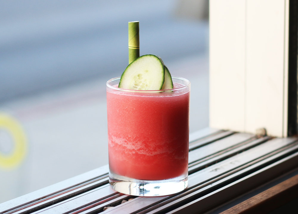 THE O.G: Rain Cucumber Vodka, fresh-juiced watermelon, mint & lime