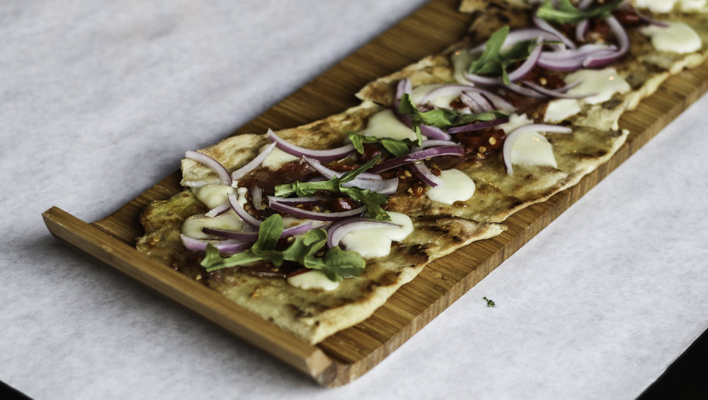 Spicy Sausage Flatbread : Provolone, calabrian chile