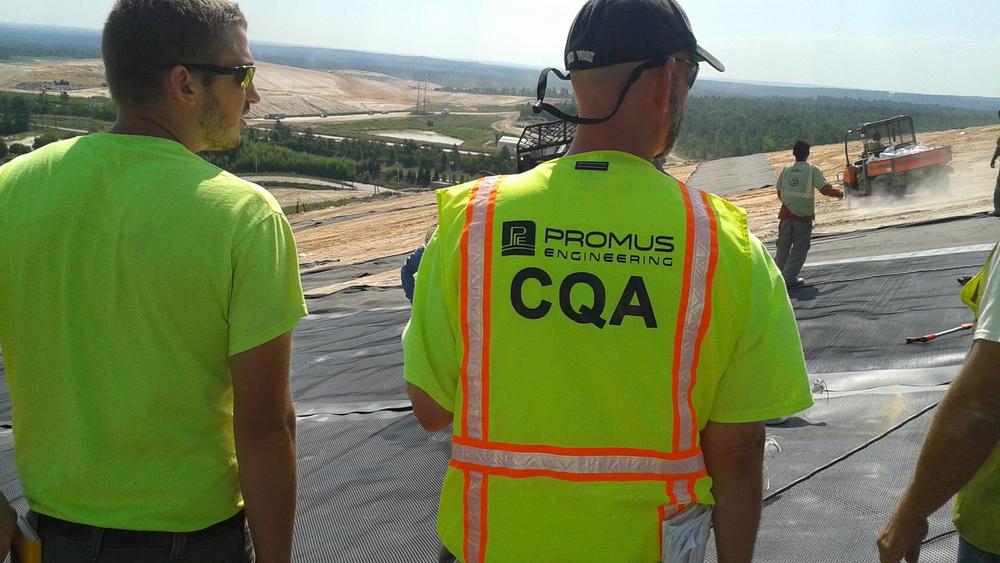 CQA and construction documentation - final cover, municipal solid waste facility, South Carolina.