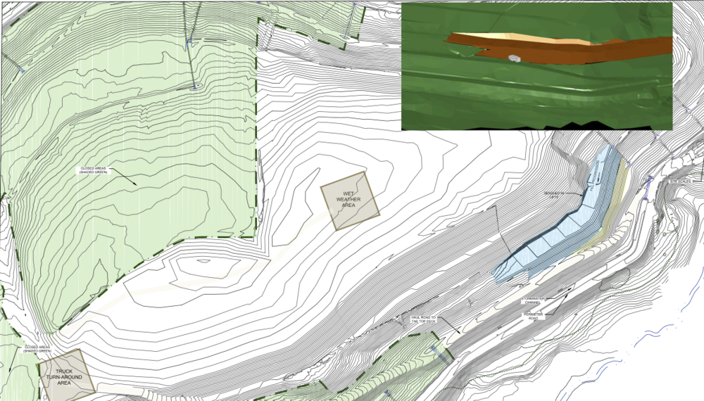 Operations Consulting - fill access road and 3D visualization, municipal solid waste facility, South Carolina.