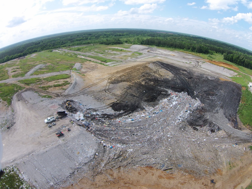 Aerial imagery and video via drone provide a great perspective for waste placement planning and staff training.