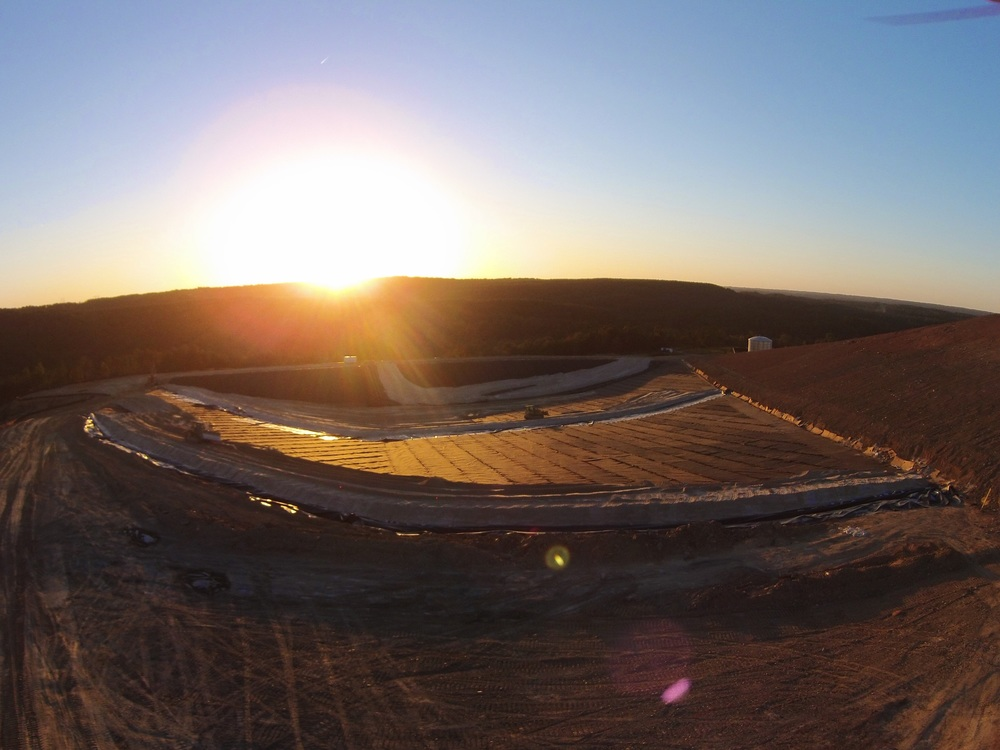 Sun setting on another great CQA project - MSW facility, Alabama.