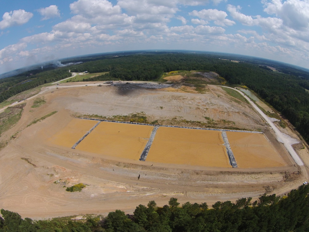 And it's a wrap ... MSW landfill cell, Mississippi.