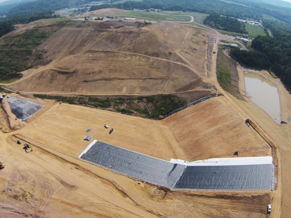 Liner going down on another solid waste landfill cell in Tennessee. This project marks our 12th CQA project for the year with several more to go for the Fall. It has certainly been a busy year this year. Much thanks to all our great clients who entrust us with their work.