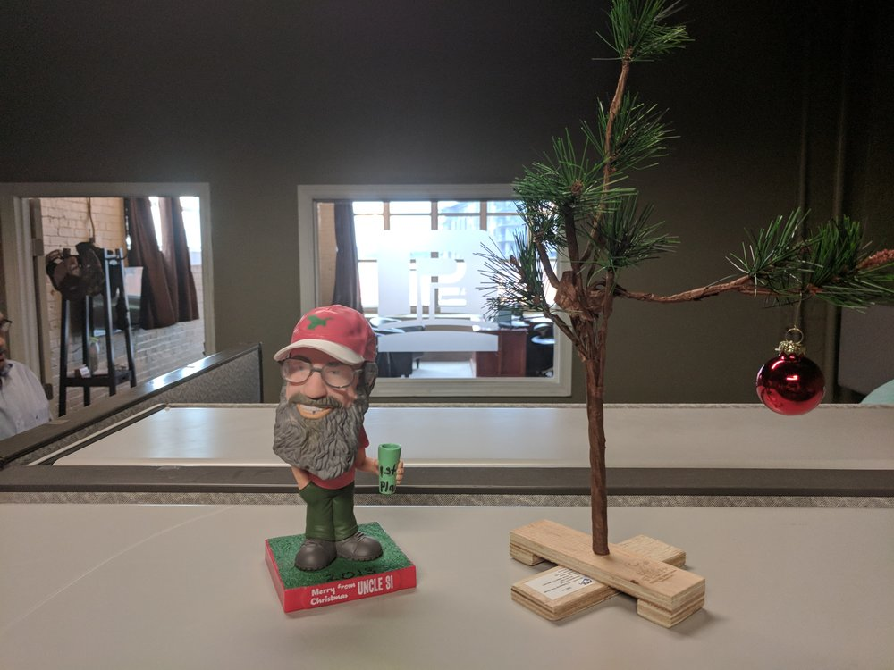 around the Promus offices. Decorations in full swing.