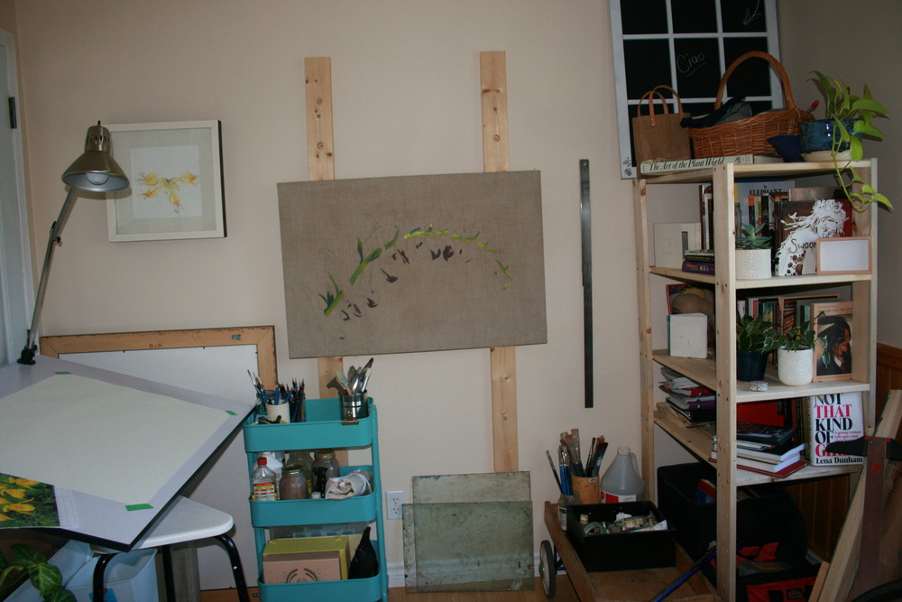 This is my painting and drawing space.