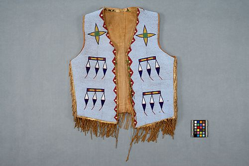 Plains vest (Alberta, Calgary), found on the Museum of Anthropology's website