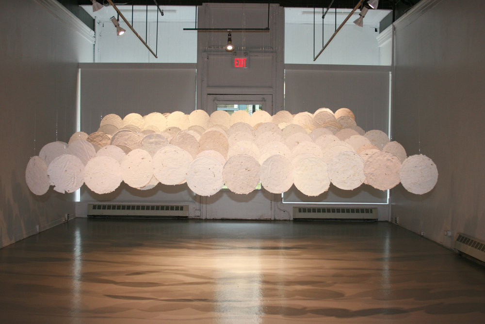 Connect/Contact: this is the land of my ancestors , installation at the Anna Leonowens Gallery, Halifax, Nova Scotia