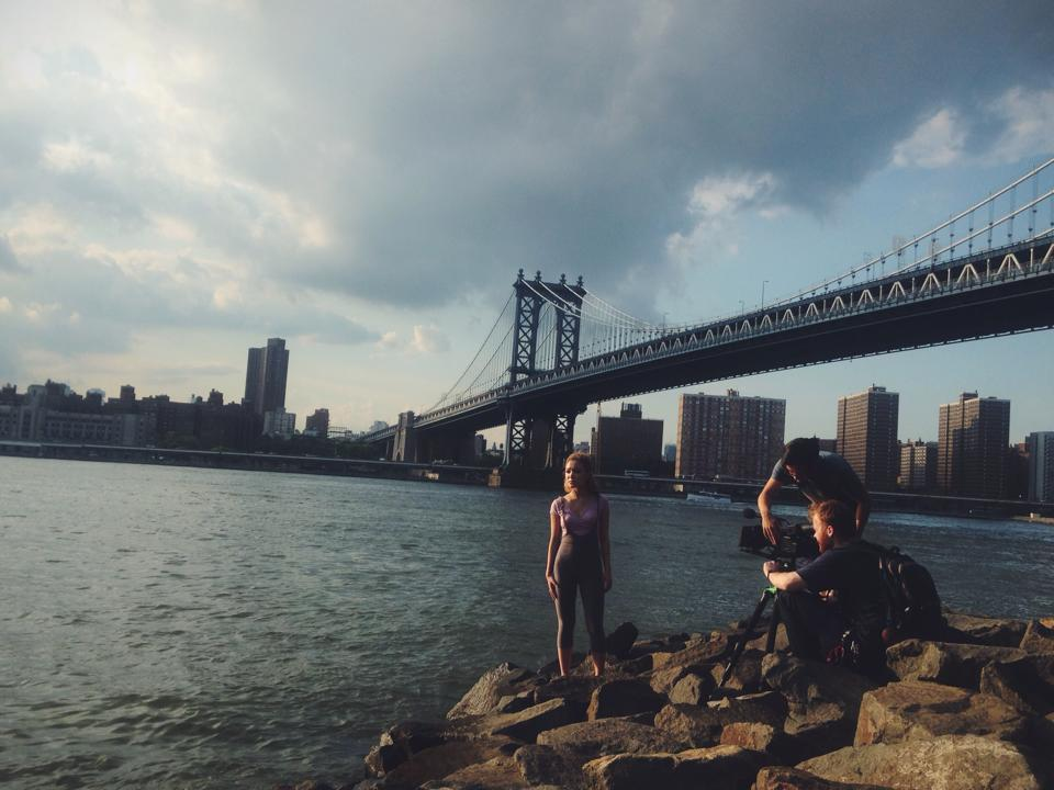 On site at the Brooklyn Bridge with Director Jeremy Truong and Director of Photography Robert Newman.