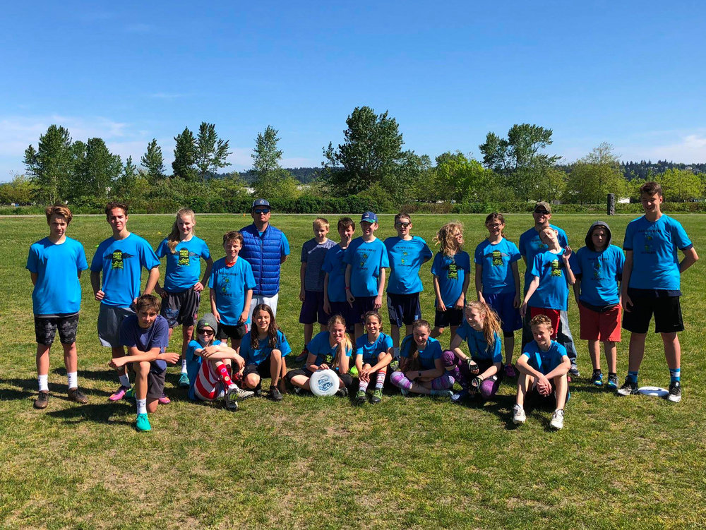 PCS Middle School Ultimate - Pacific Crest runs casual practices and scrimmages in the fall with a season and tournament at Spring Reign in the spring.