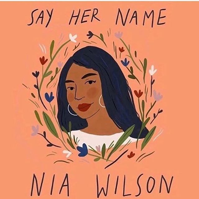 Make sure you swipe the picture to read Elizabeth Gilbert's important words. I've seen some very disturbing comments from white women about this case. True feminism includes everyone.  Artwork by @sarahgreenstudio . . . . . . . . . . . #sayhername #sayhernameniawilson #niawilson #blm #feminism #equalityforall