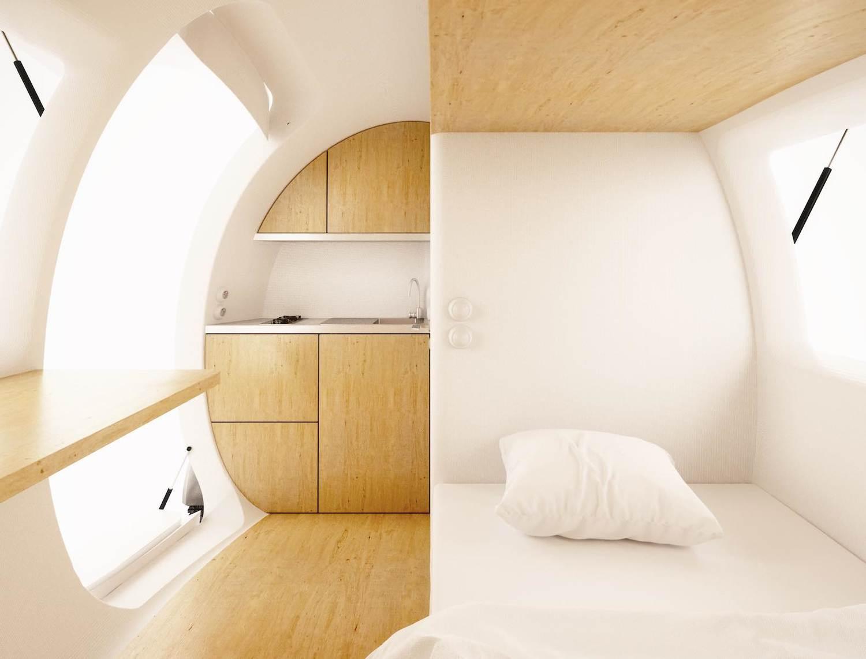 Ngôi nhà thân thiện với môi trường với phong cách nhà Ecocapsule: