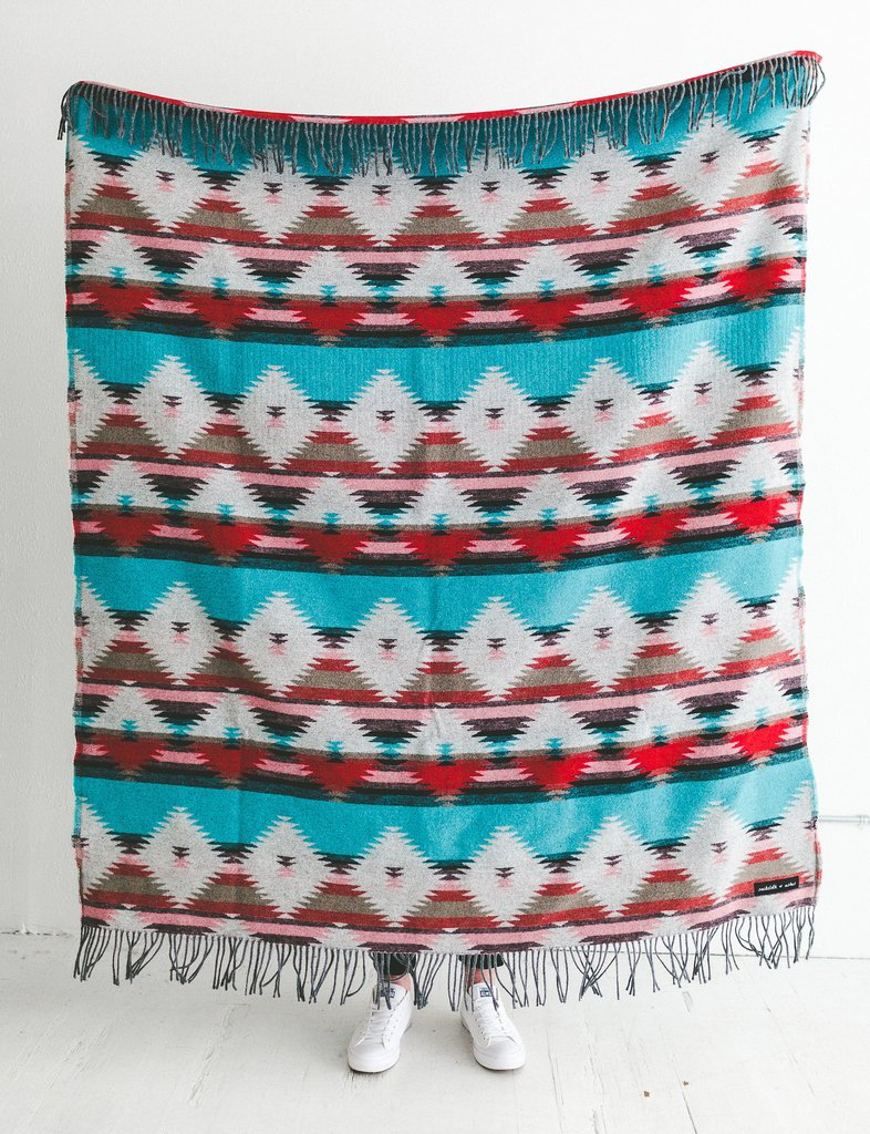 Tribal Turquoise Blanket from Sackcloth & Ashes