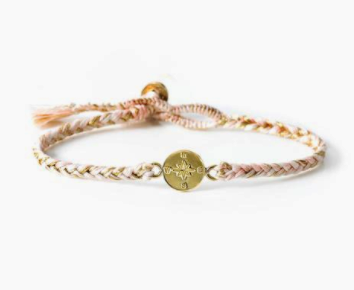 Almond Blossom Compass Bracelet | The Brave Collection