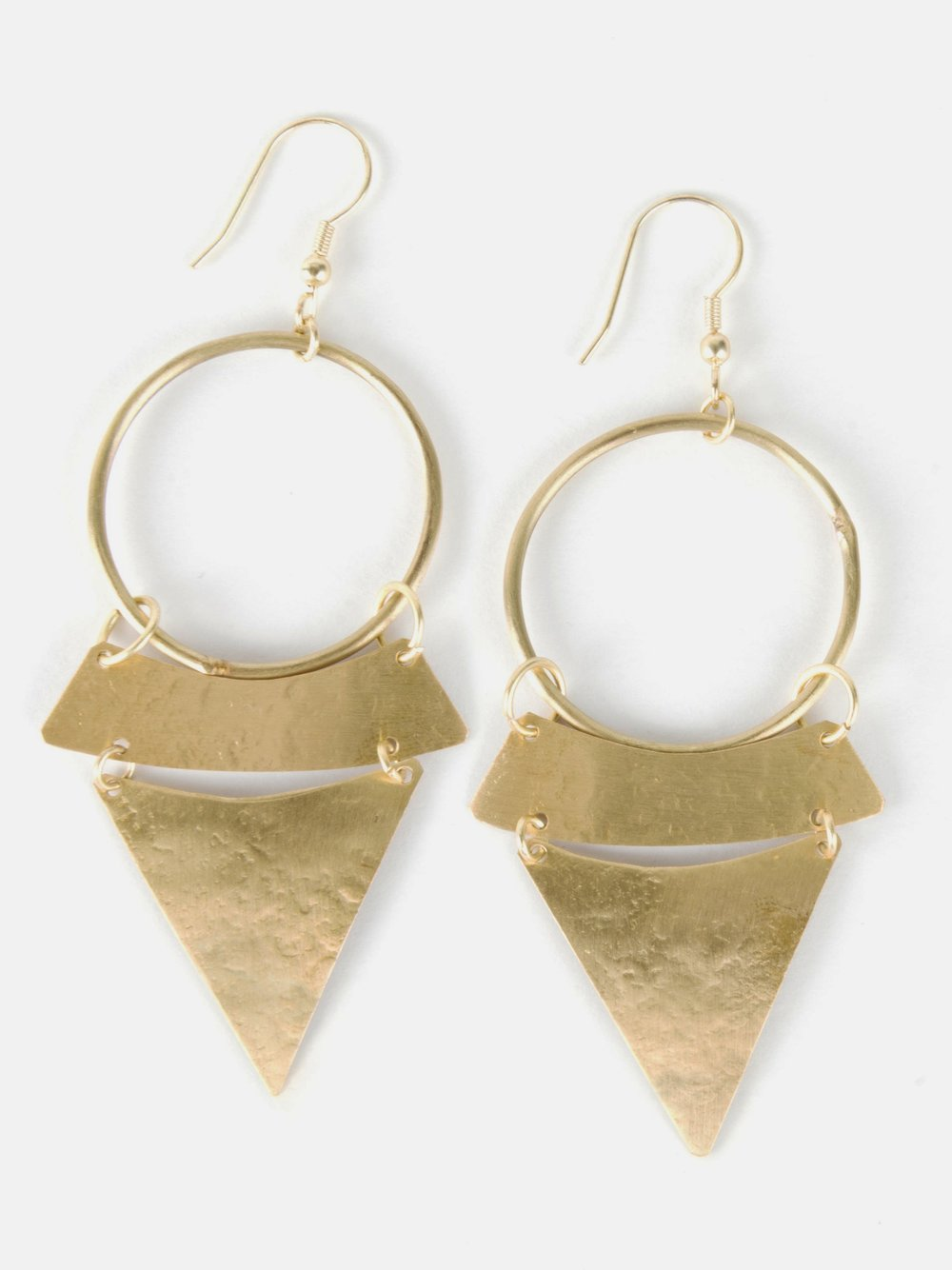 Gold Stacked Sunra Earrings from Mata Traders