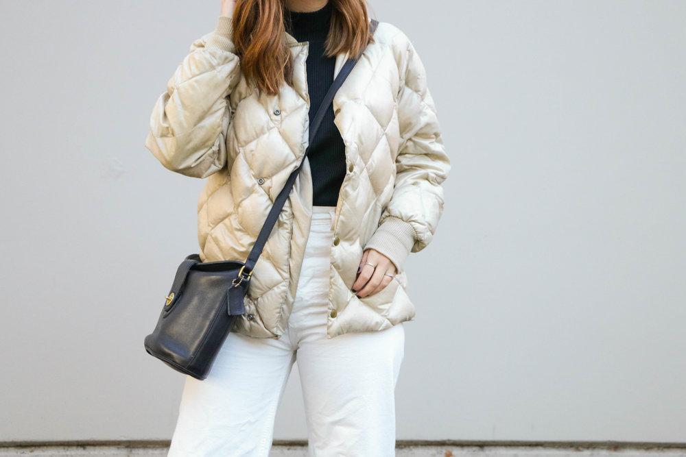 Black Turtleneck & White Kamm Pants Winter Capsule Wardrobe With Allison Karaba Of The Thoughtful Closet