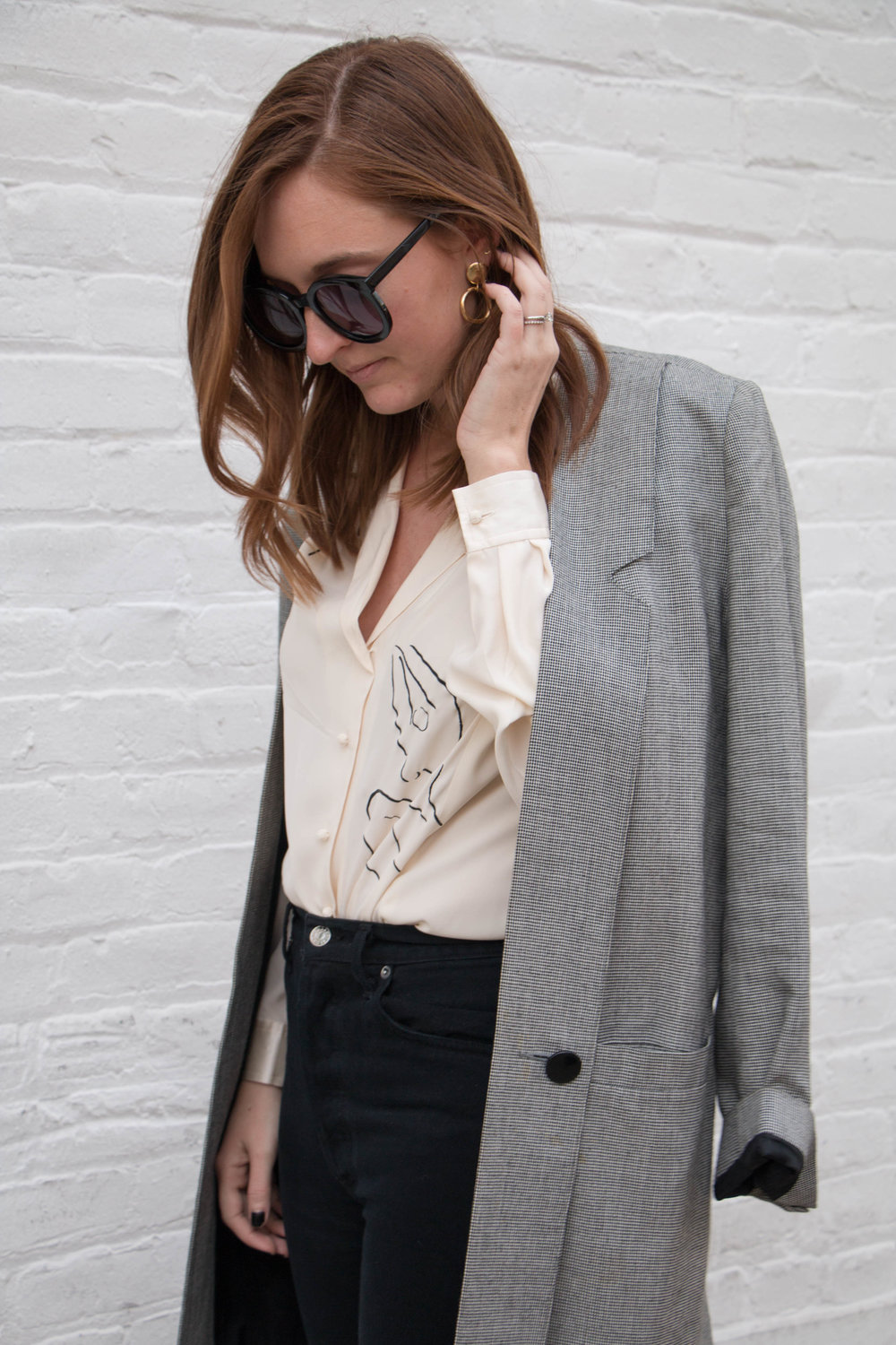 Houndstooth Jacket Outfit By Allison Karaba Of The Thoughtful Closet