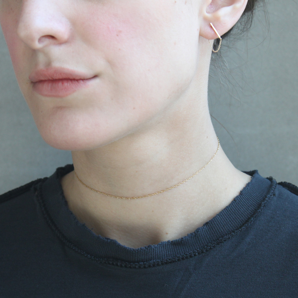 Sweet Nothing Delicate Gold Chain Choker by Catbird // Handcrafted Jewelry Brands For The Minimalist