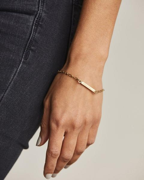 Mini Rex Brass ID Bracelet from Nisolo // Handcrafted Jewelry Brands For The Minimalist