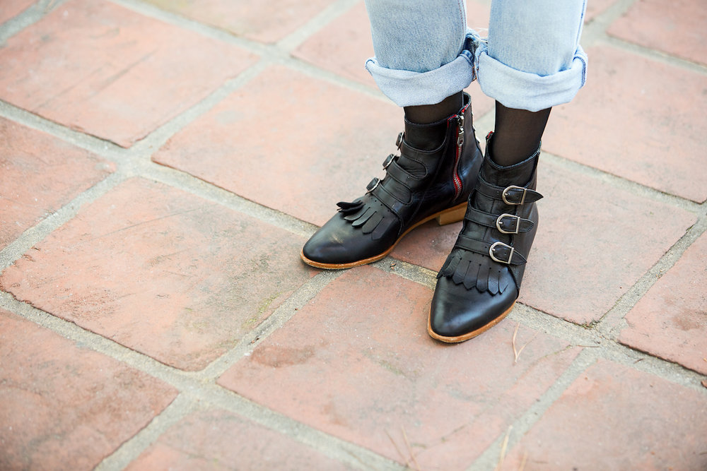 Made-to-order in the USA boots // Week Of Ethical Outfits With Kestrel Jenkins