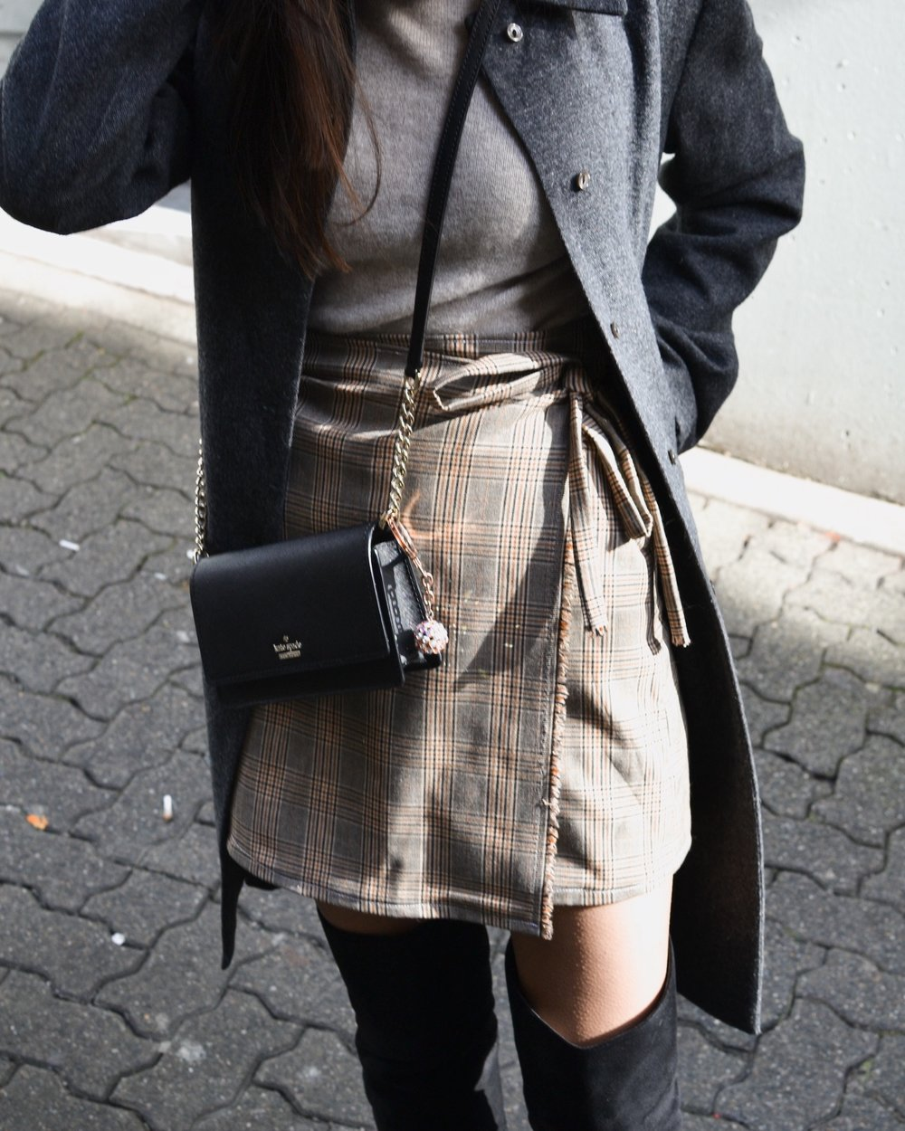 Handmade plaid skirt OOTD // A Week Of Empowered Outfits With Cat Chiang From Restitchstance on The Good Trade