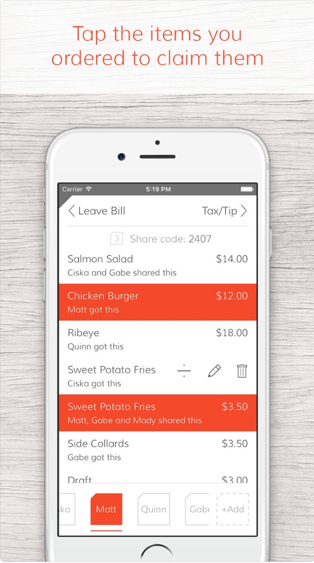 Tab Receipt Splitter // Apps For The Modern Woman on The Good Trade