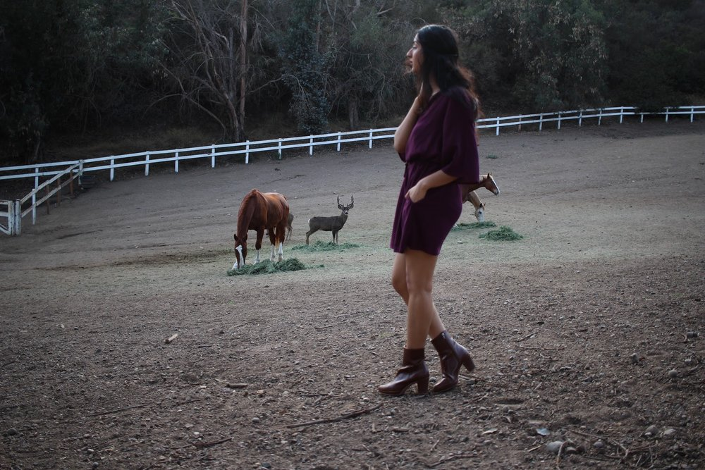 Vegan boots for a day at the ranch // A Week Of Ethical Outfits With Aditi Mayer on The Good Trade