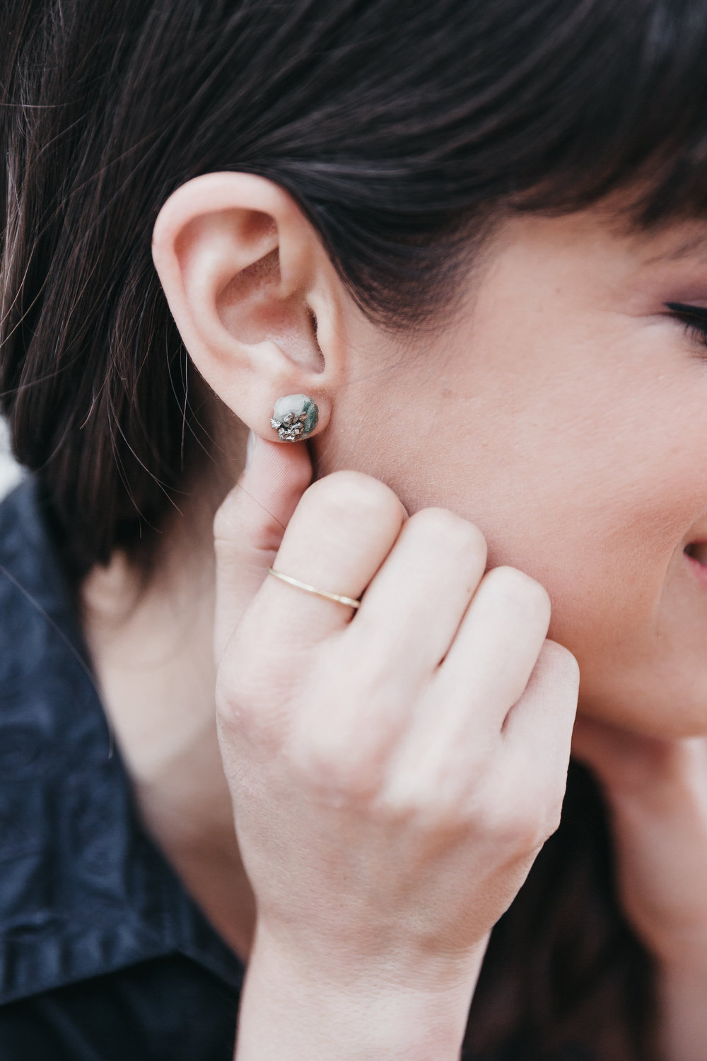 Dear Survivor for-good earrings // A Week Of Bright & Bold Ethical Outfits With Michelle Chavez From Michelle For Good on The Good Trade