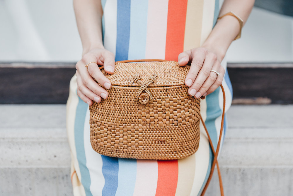 31 Bits woven handbag // A Week Of Bright & Bold Ethical Outfits With Michelle Chavez From Michelle For Good on The Good Trade